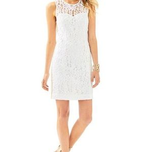 NWT Lilly Pulitzer MILA White Lace Shift Dress 16
